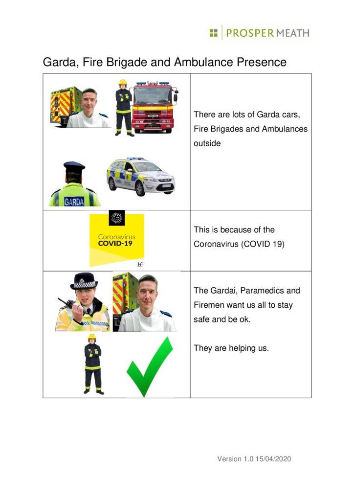 thumbnail of Corona virus ,Garda fire Brigadeand Ambulance PM