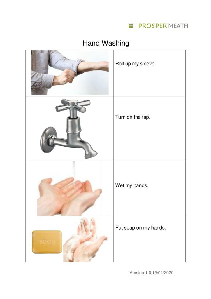thumbnail of Coronavirus Hand Washing Easy Read PM